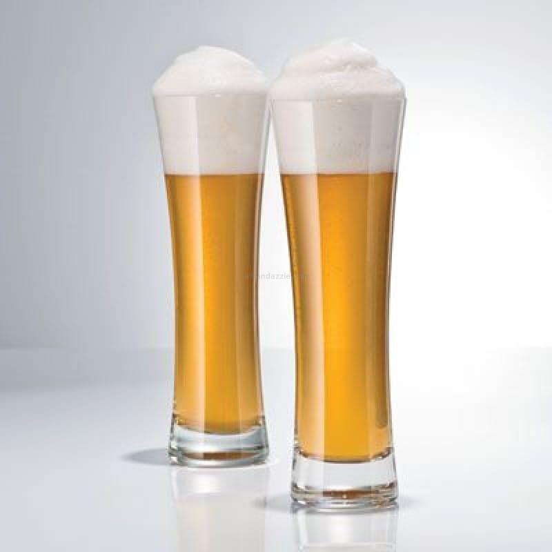 Set of 6, 451ml Beer Basic Crystal Glasses