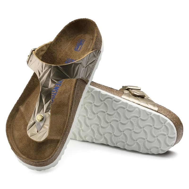 Ladies Gizeh Thong Natural Leather Sandals