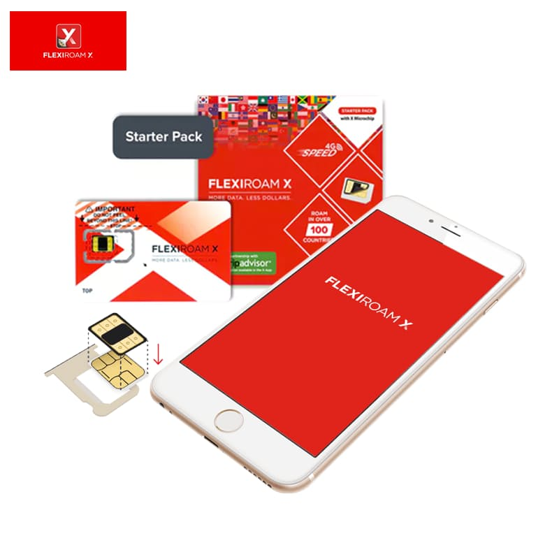 Dual Sim Roaming Starter Pack with 100MB Data