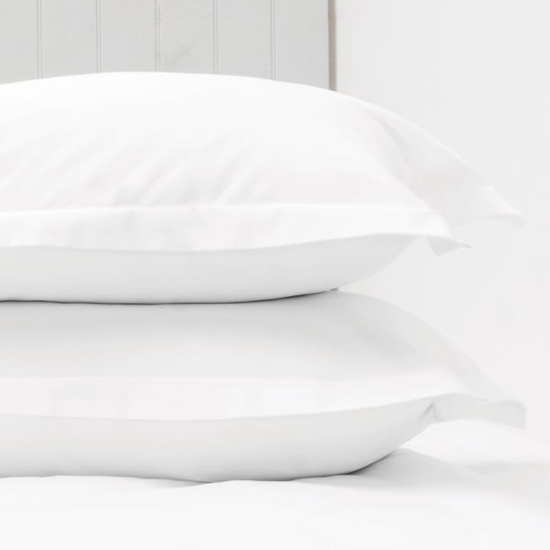 Set of 2, 1000 Thread Count Oxford Pillow Cases