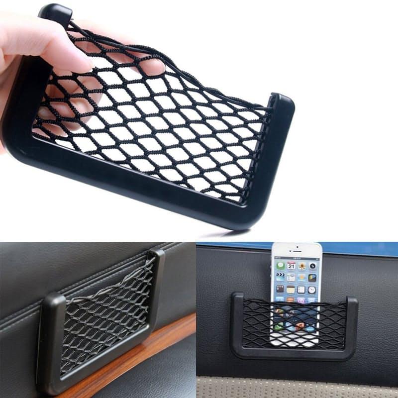 Self-adhesive Mesh Storage Pocket