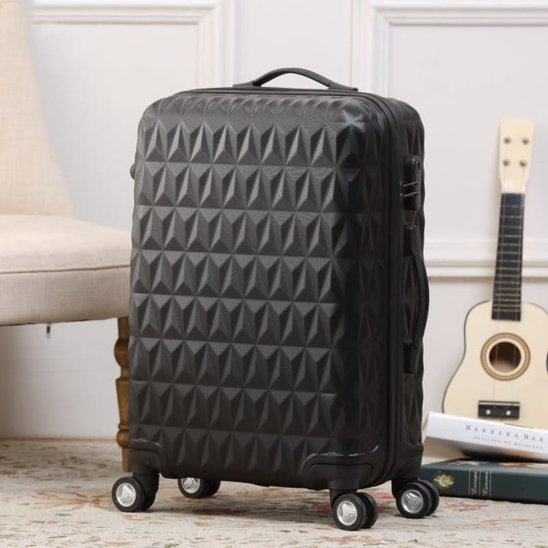 3-Piece Hard Shell ABS Diamond Luggage Set