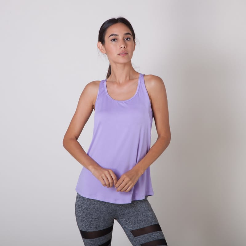 Lightweight Breathable Active Tank Top with Open Back or Mesh Detail