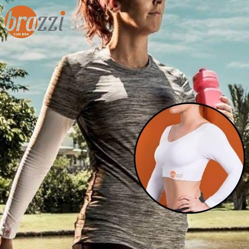 UPF 50 Longsleeve Sun Sleeves Sports Bra