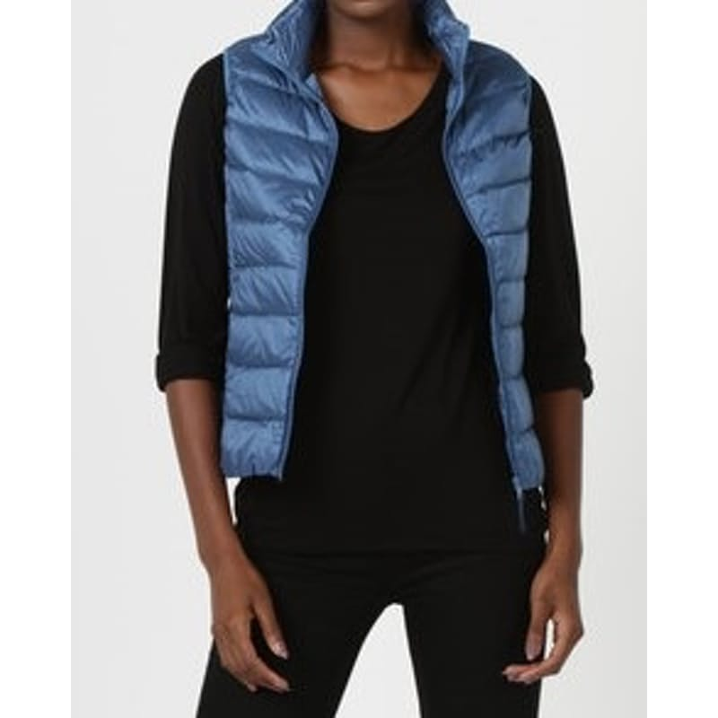 Ladies Straight Line Sleeveless Puffer Jacket
