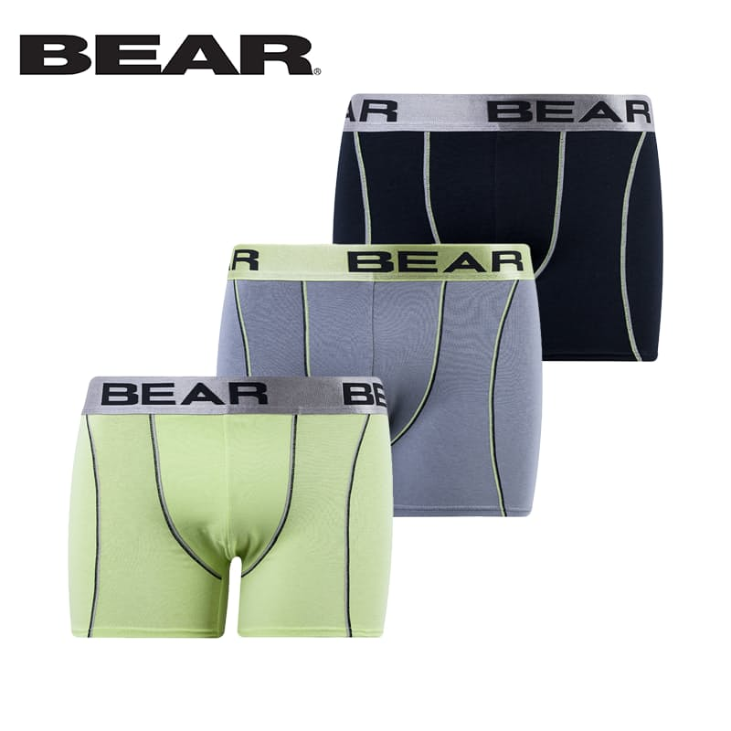 Pack of 3 Men's Contrast Stitch Detail Body Shorts