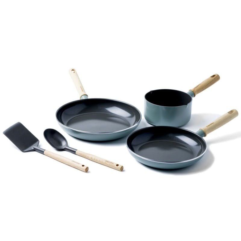 5-Piece Mayflower Blue Thermolon Infinity Ceramic Non-Stick Coating Set