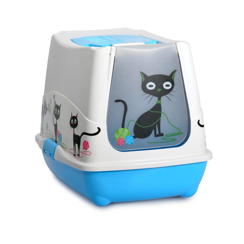 Trendy Cat Toilet with Hooded Lid