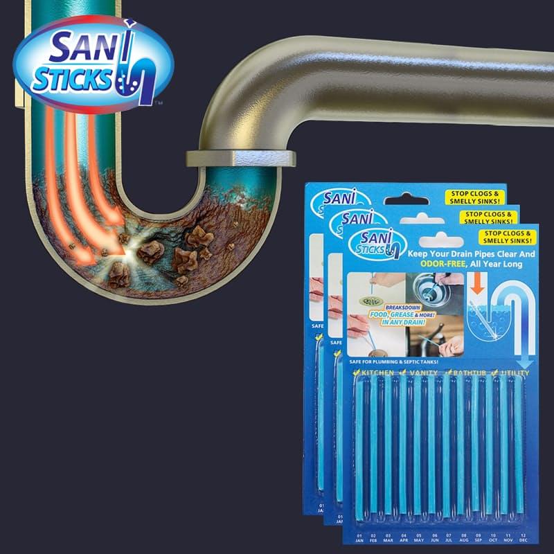 Pack of 36 Drain Cleaning Sticks (3x12 Sticks)