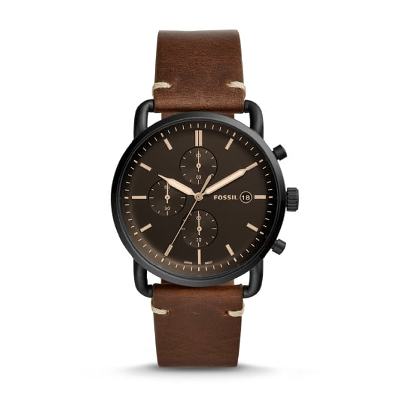 Men's The Commuter Chronograph Brown Leather Watch