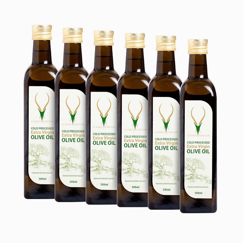 Case of 6 Cold Processed Extra Virgin 500ml Olive Oil (R96.50 per Bottle, 6 Bottles)