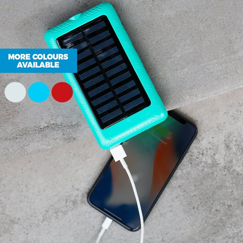 15000mAh Solar Powered Power Bank with LED Torch Light