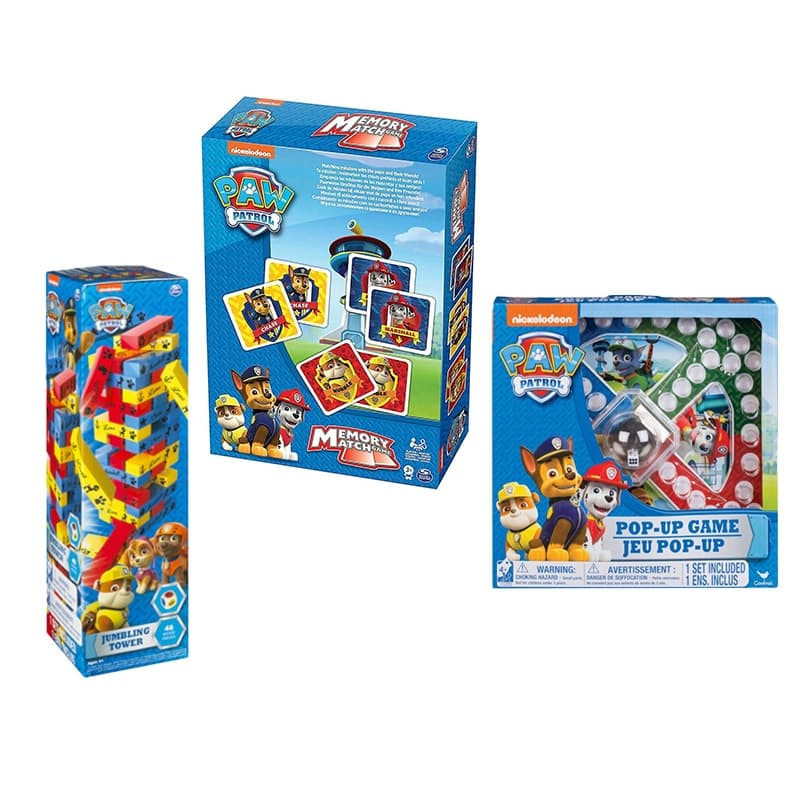 Pop up Game, Match Cards and Jumbling Tower Set