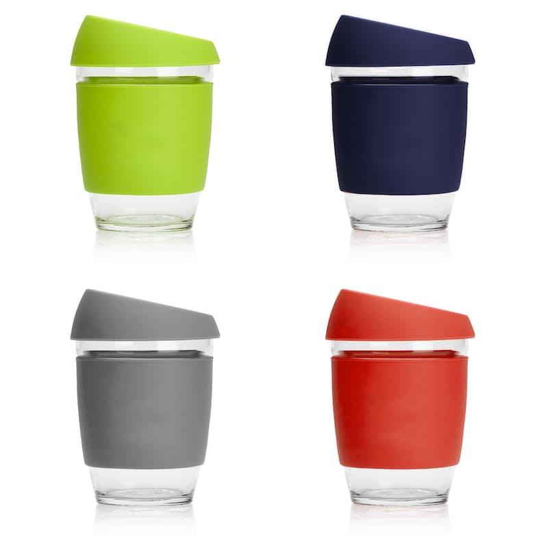 340ml Reusable Glass Travel Cup