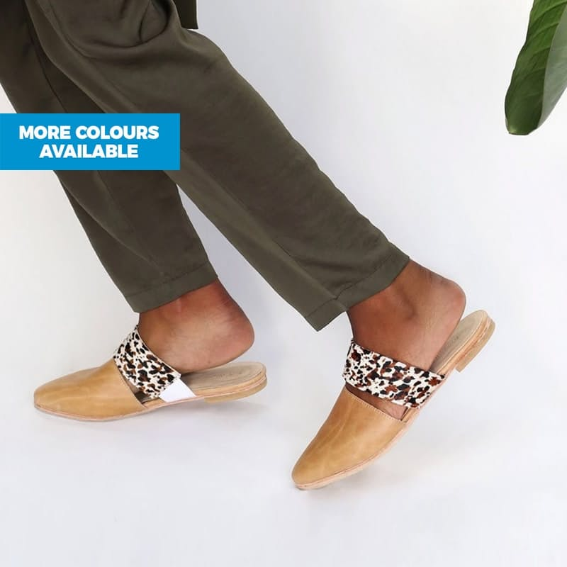 African Handmade Lea Slider Shoes