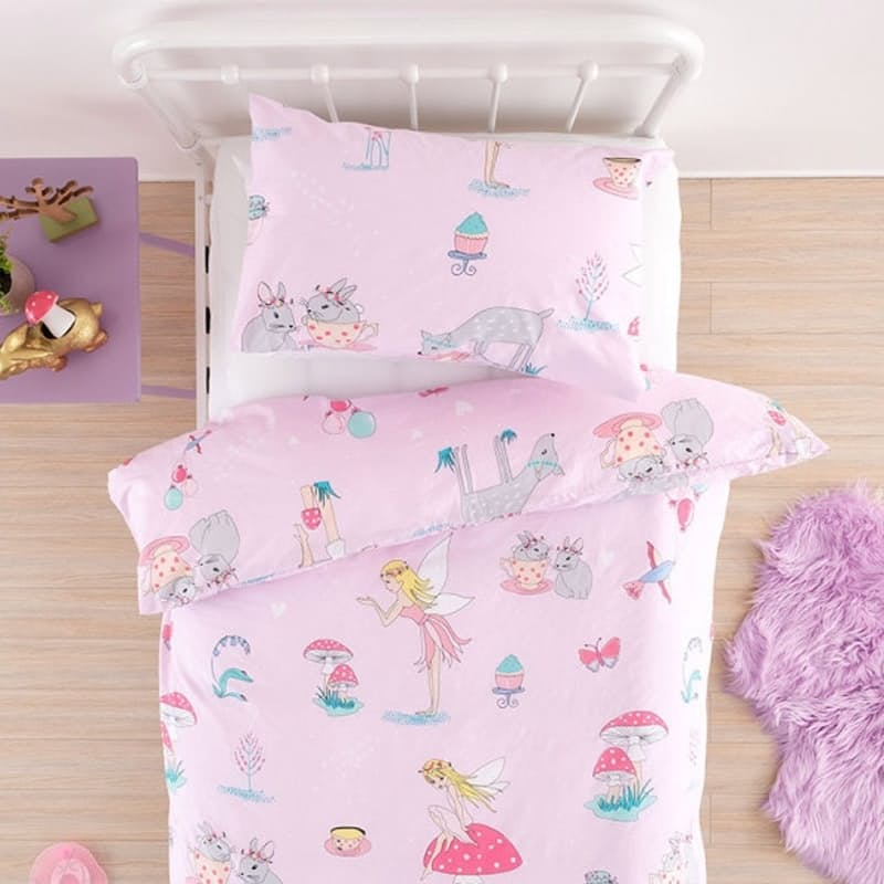 Fairy Tea Party Duvet Cover Set (with Standard Pillowcases)