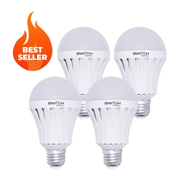 Pack of 4 Load Shedding Bulbs with Built-In Rechargeable Battery