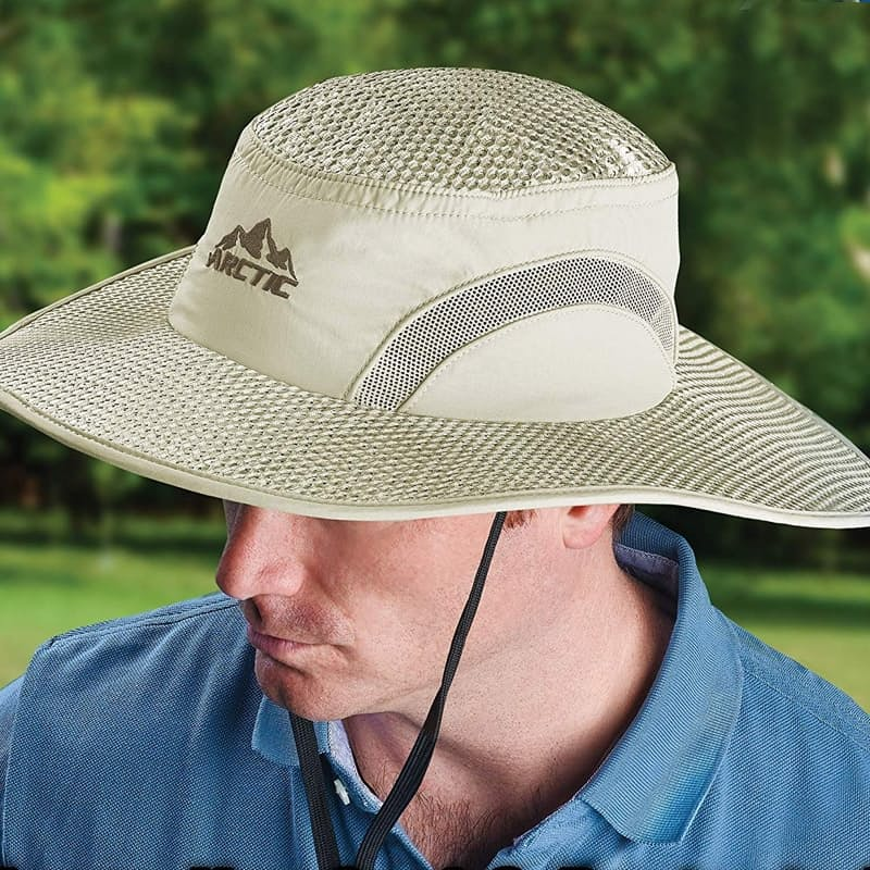 Evaporative Cooling Hat with UV Protection
