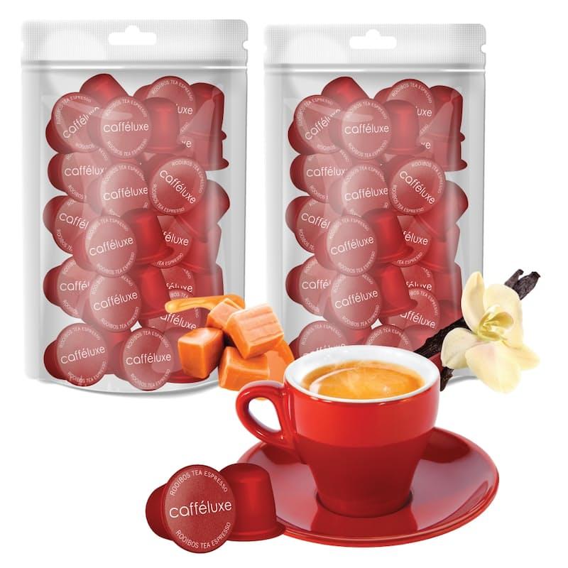 Pack of 100 Nespresso Compatible Caramel & Vanilla Rooibos Capsules (R2.79 per Capsule)