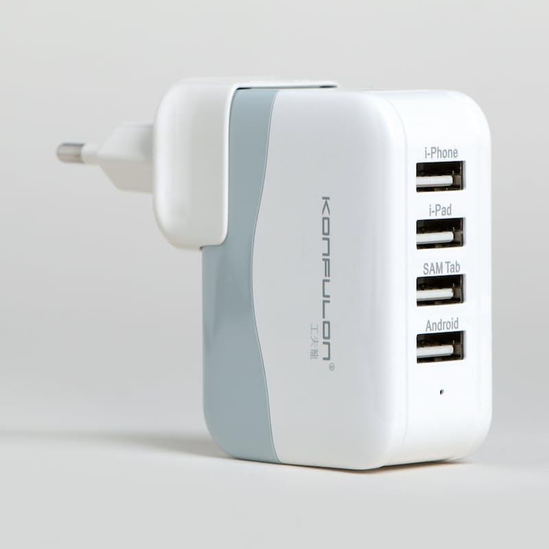 4-Port 4.2A 5V USB Charging Block
