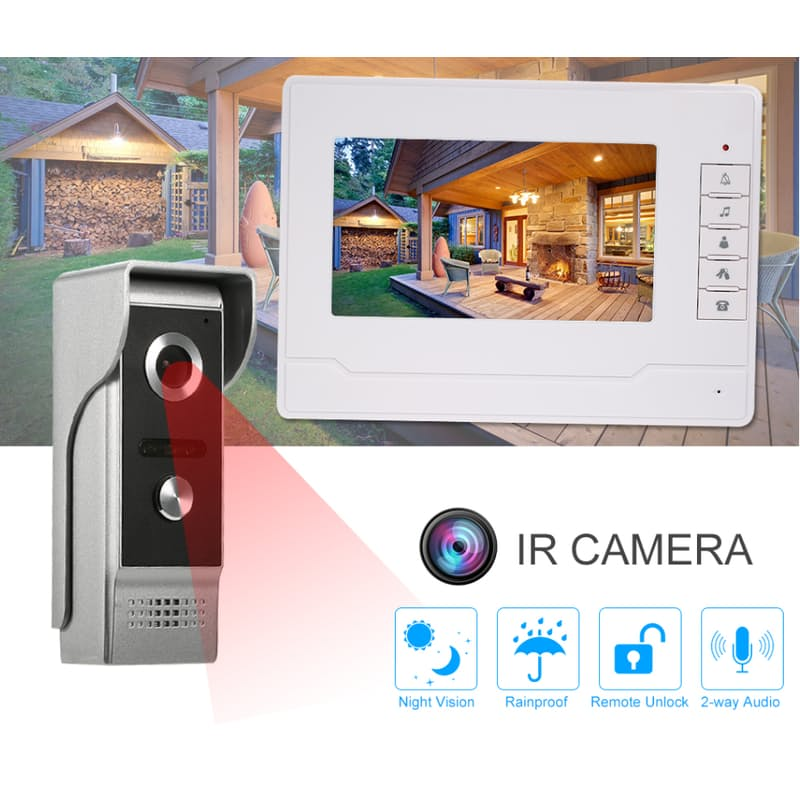 Intercom System with Colour Video Display and Night Vision