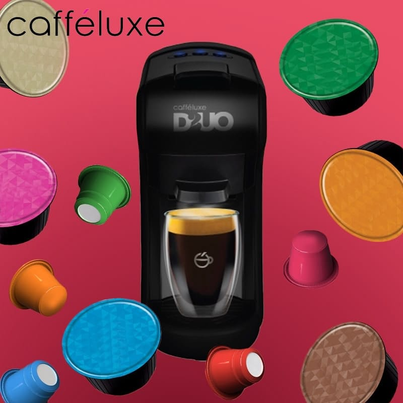 DUO Capsule Machine, Dolce Gusto Capsule Advent Calendar & 160 Nespresso Compatible Coffee Capsules