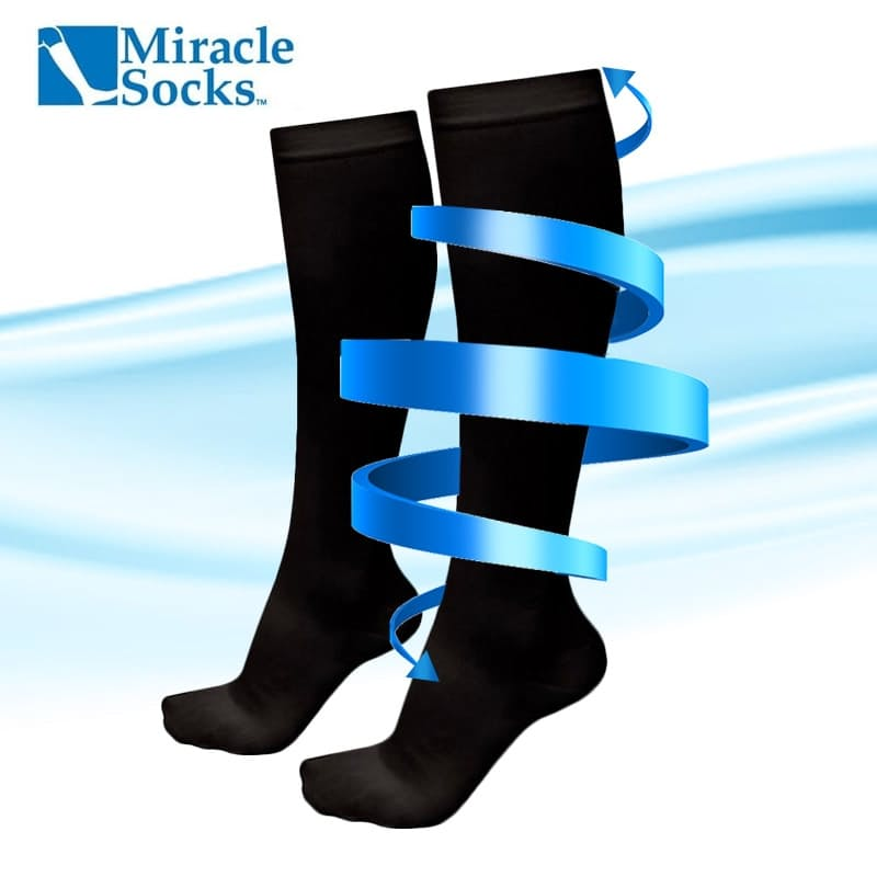 2 Pairs of Unisex Anti-Fatigue Compression Socks