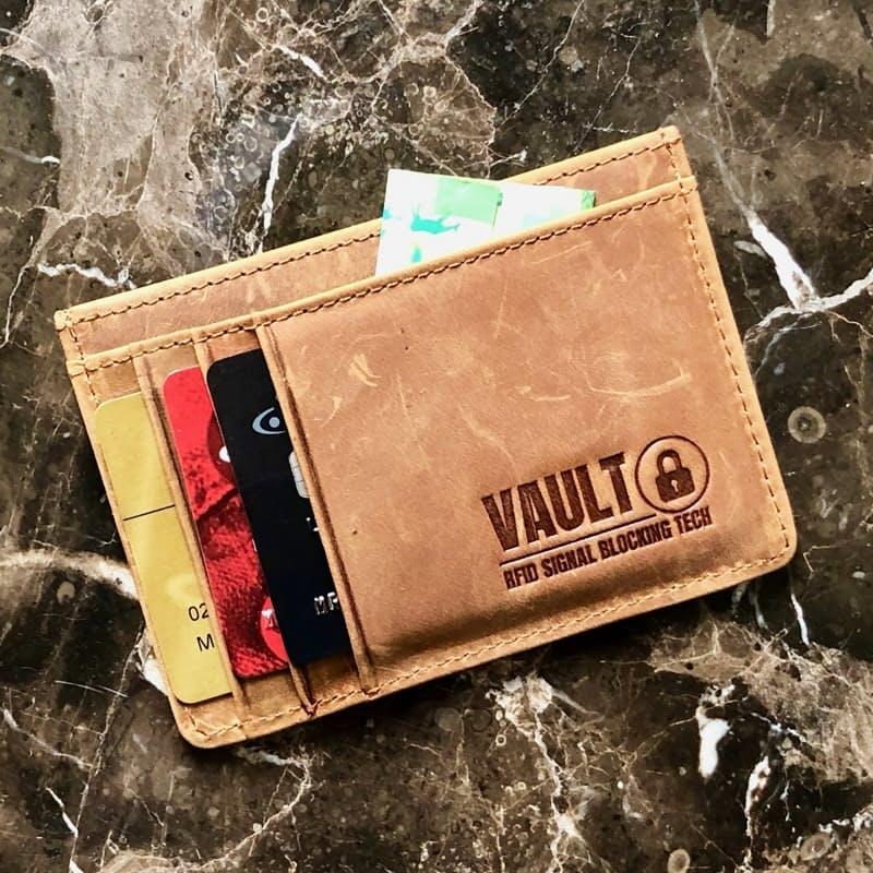 Slim RFID Blocking 100% Leather Wallet