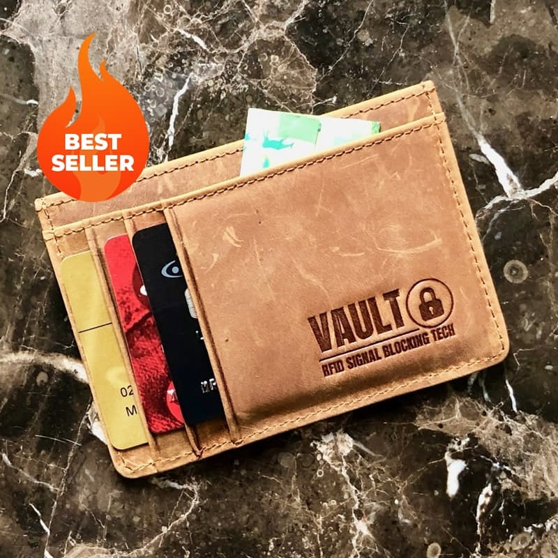 Slim RFID Blocking 100% Leather Wallet