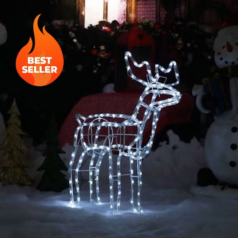3D LED Deer Christmas Light Display