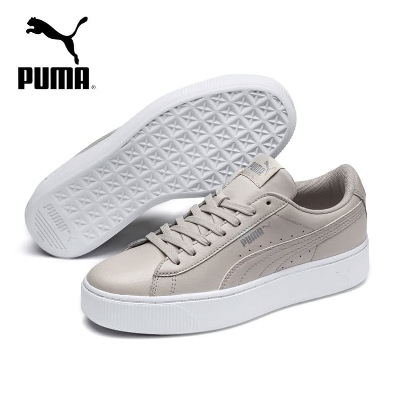 Ladies Vikky Stacked Leather Sneakers