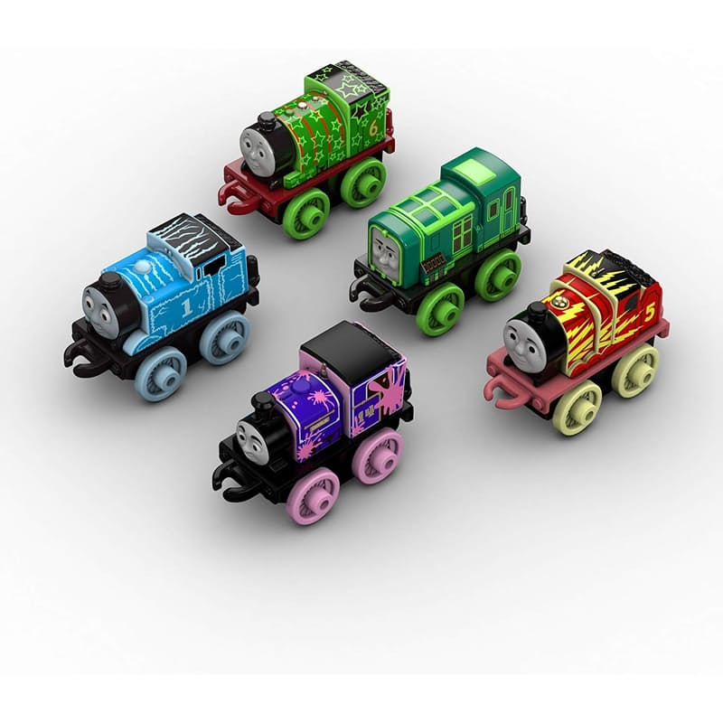 Set of 5, Glow In The Dark MINI Trains