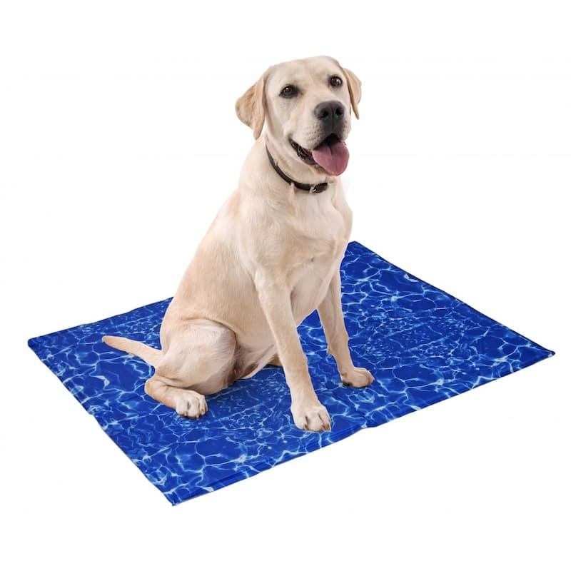 Blue Waves Pet Cooling Mat