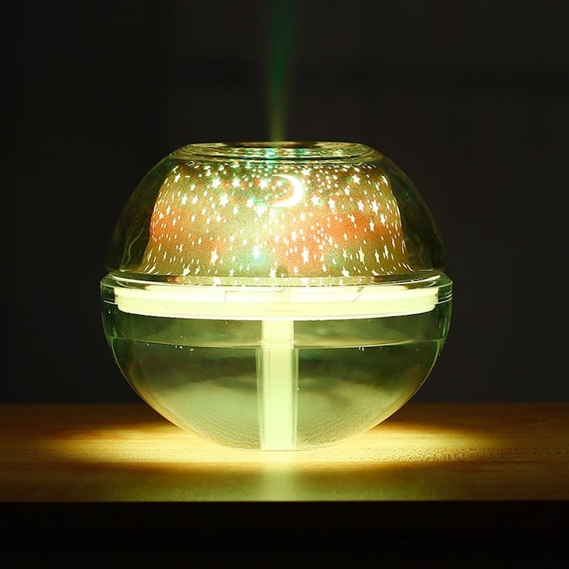 2-in-1 Crystal Night Light Projector and Humidifier