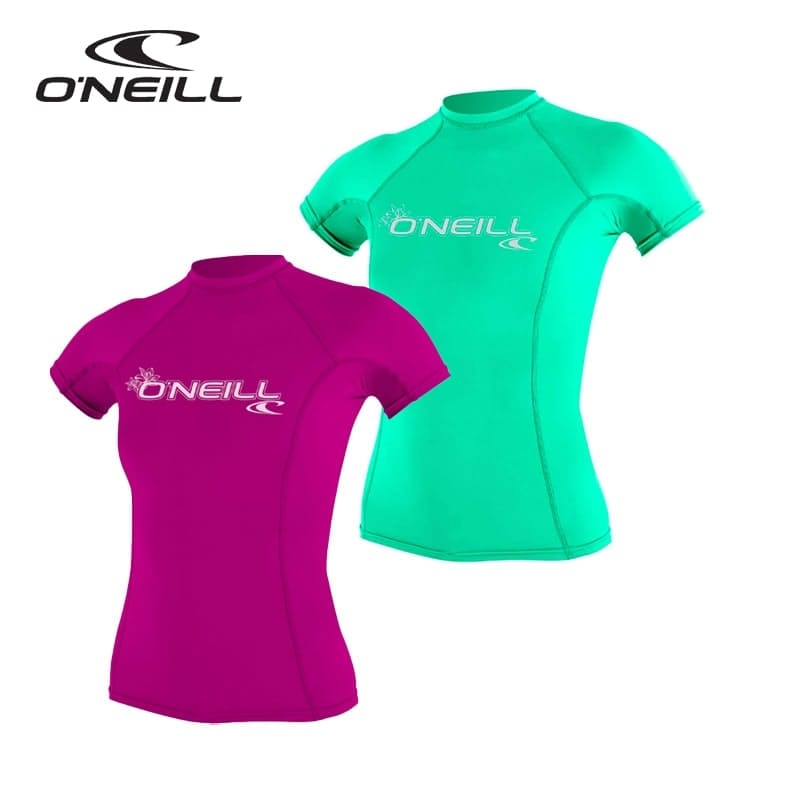 Women's 2019 Basic Skin Short Sleeve Crew Rash Vest