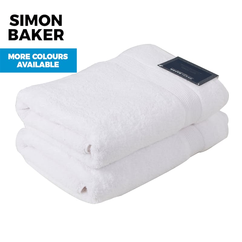 Set of 2, 100% Cotton 650gsm Zero Twist Bath Towels or Sheets