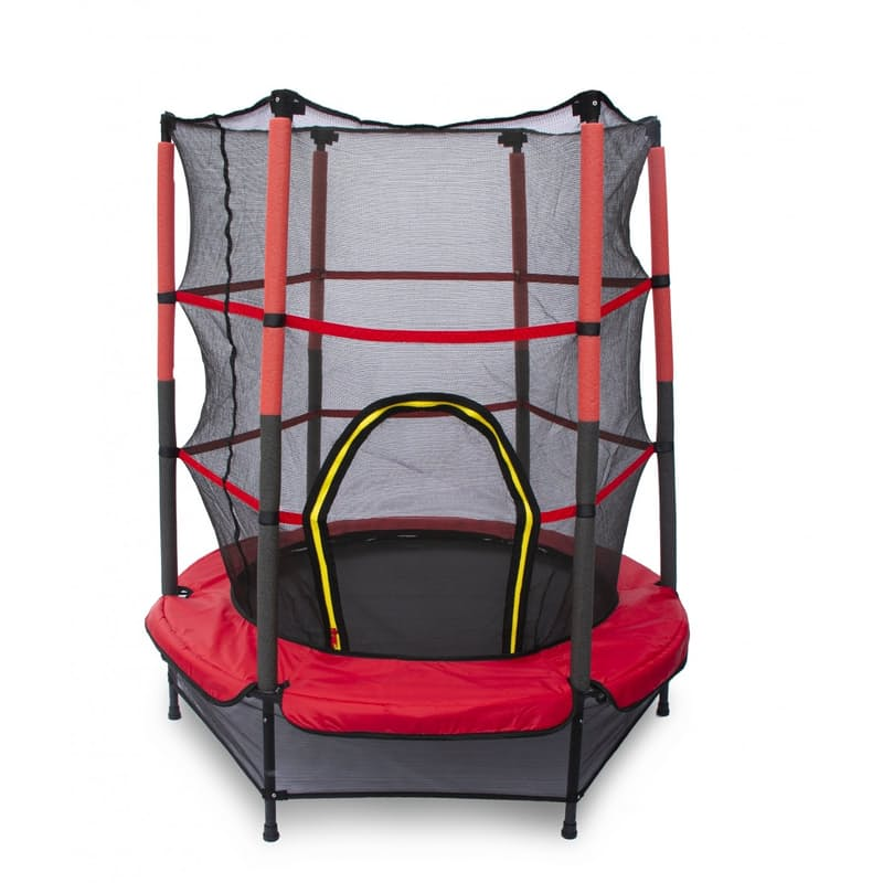 1.2 Metre My First Trampoline with Safety Net and Padded Handle Bars