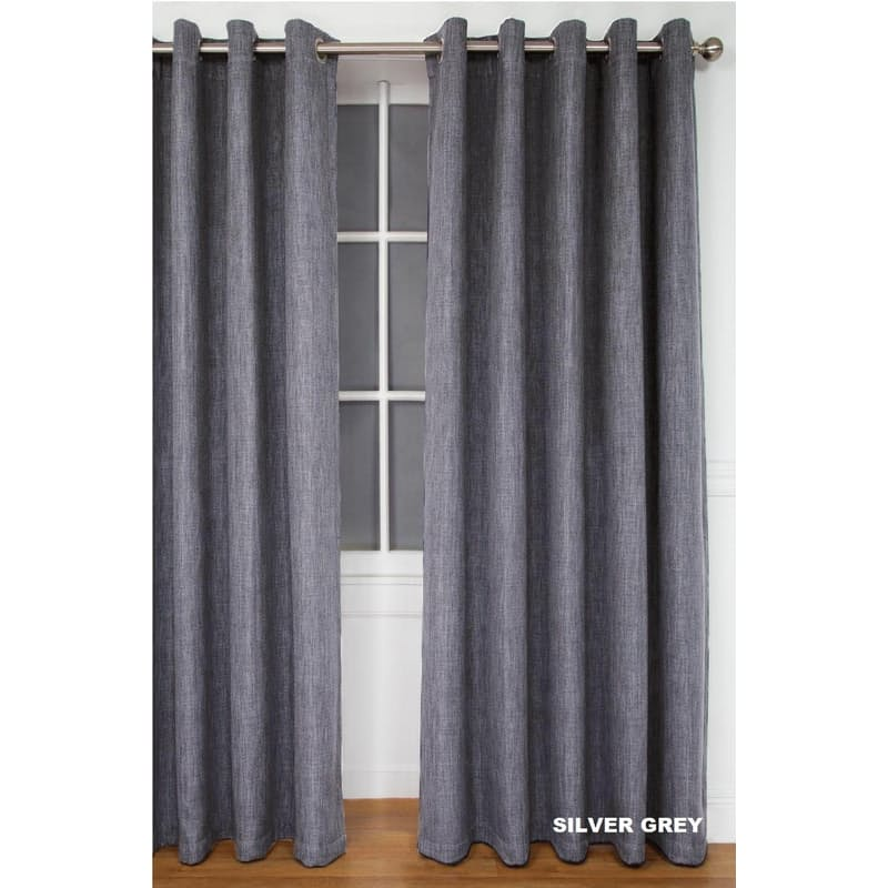 Amalfi Taped or Eyelet Block Out Woven Curtains