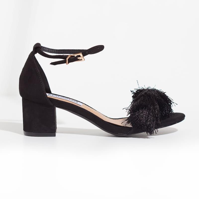 Ladies Block Heel with Tassel Detail