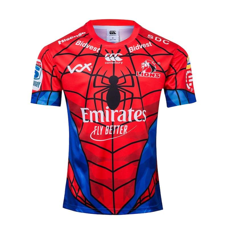 Men's or Ladies Official Lions Marvel Spiderman Replica Jerseys
