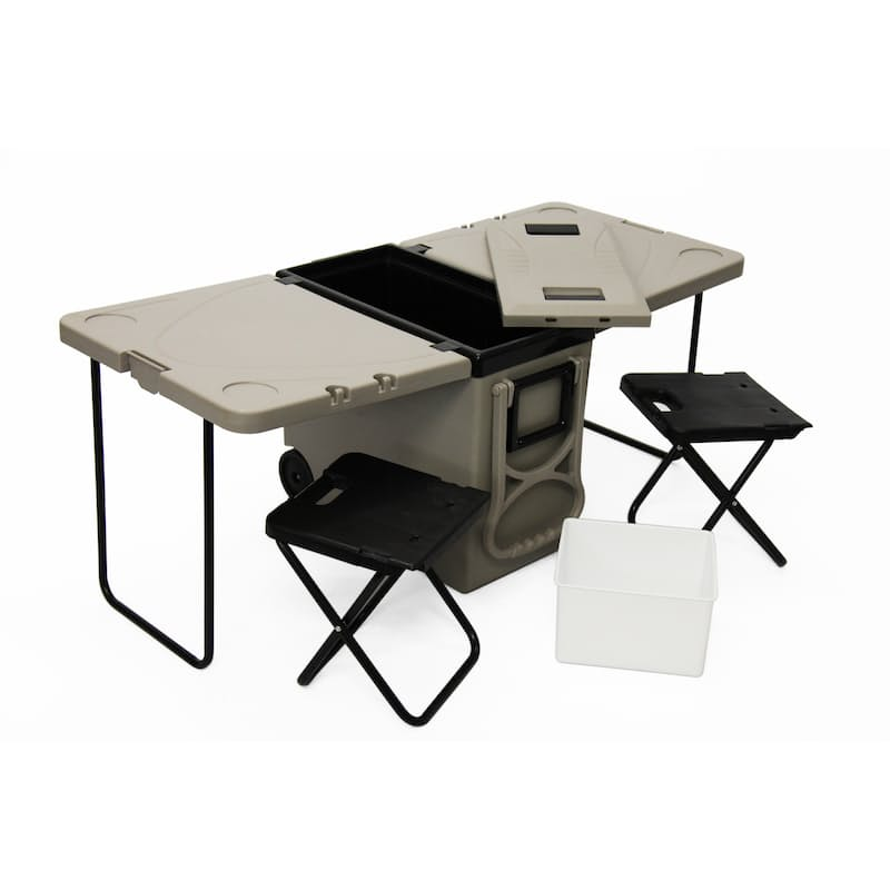 28L Convertible Cooler Box Folding Table Chair Set