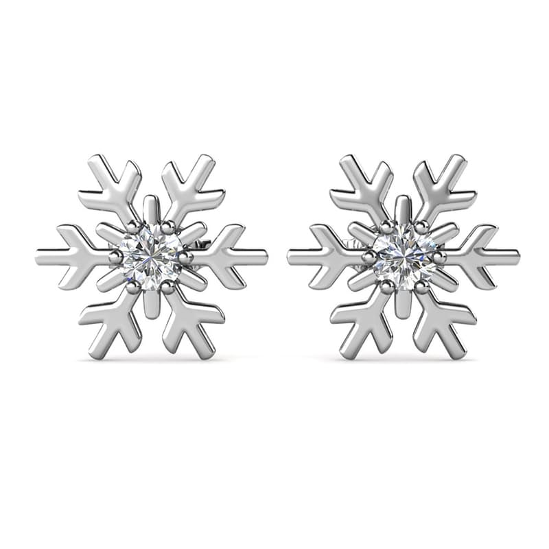 Snow Earrings with Crystals from Swarovski®