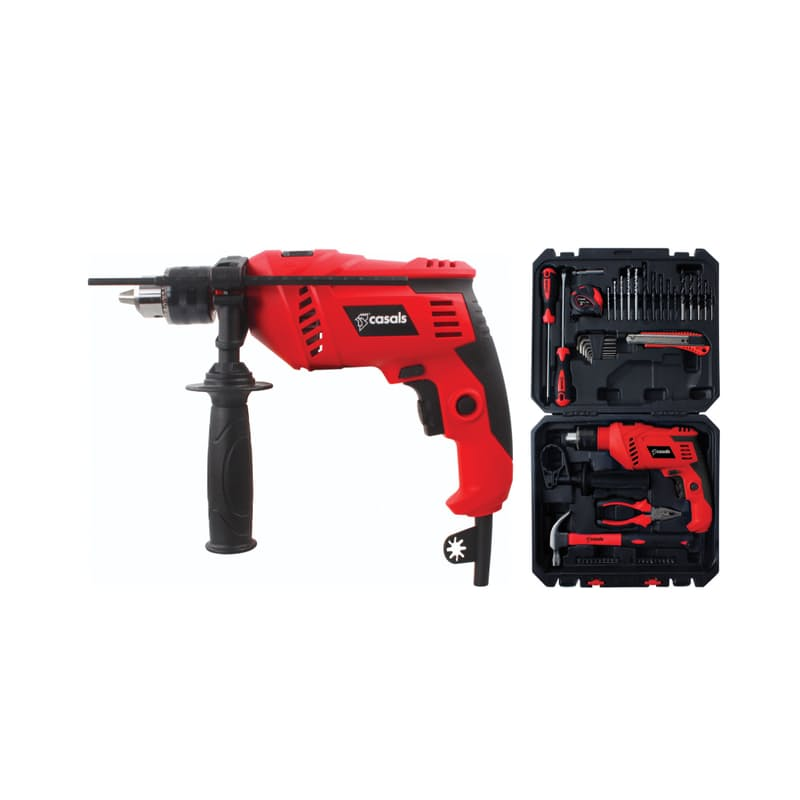 600W Impact Drill with 50-Piece Accessory Set