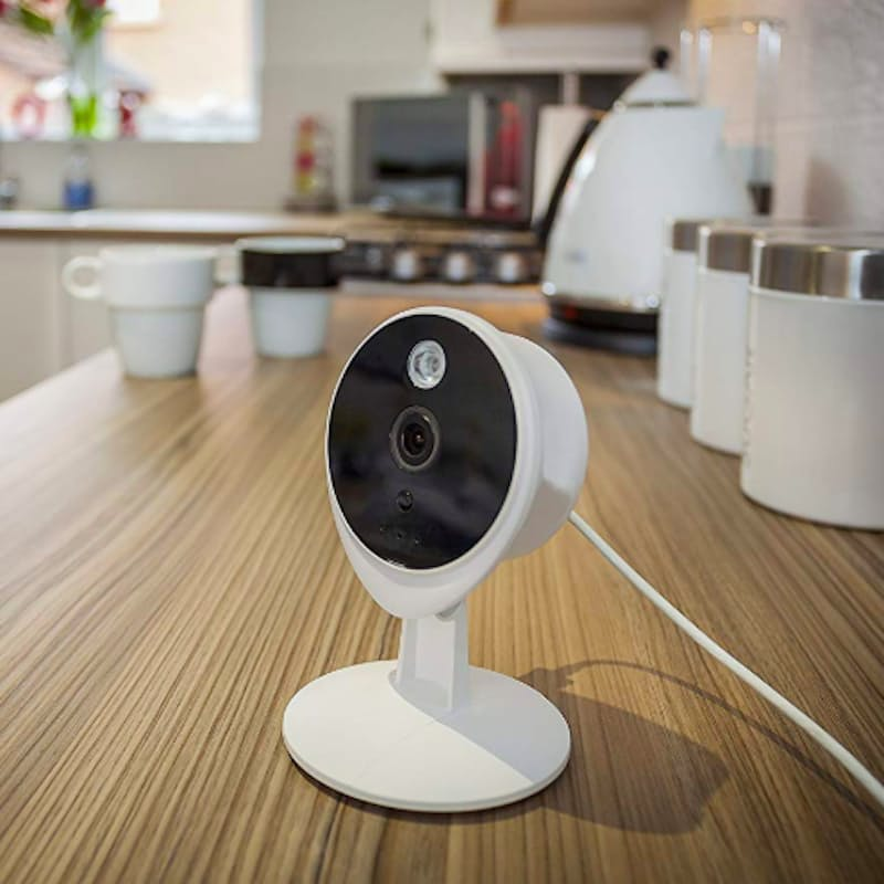Smart Living Home View 720P IP Camera with Night Vision, built-in Microphone and Speaker