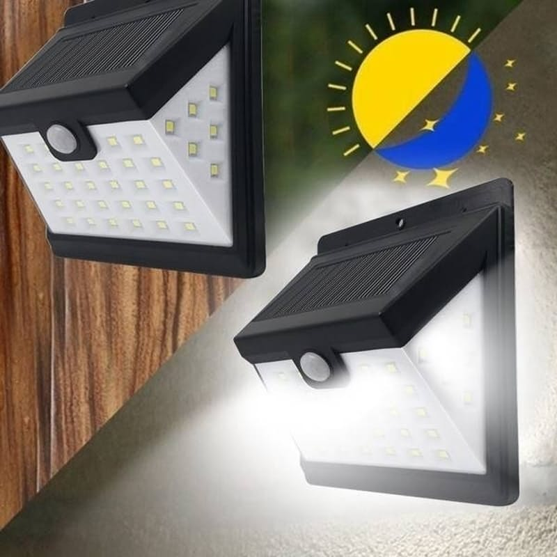 Pack of 4, 40W LED Solar Motion Sensor Waterproof Outdoor Security Lights