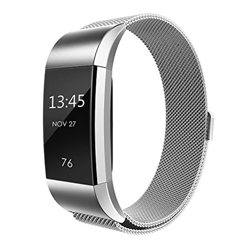 Fitbit Charge 2 Silver Milanese Strap