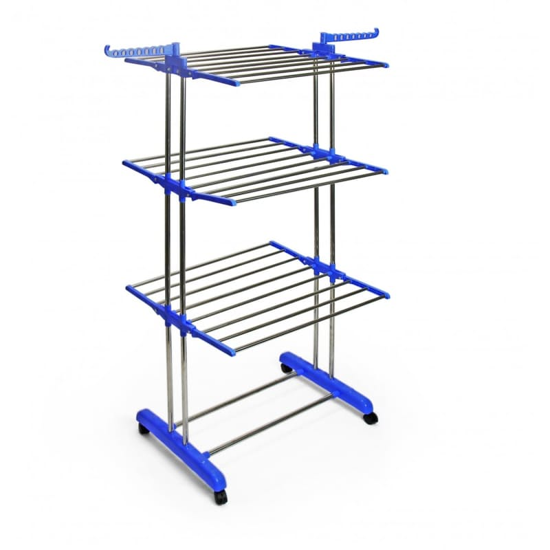 3 Tier Clothes Drying Rack with Wheels