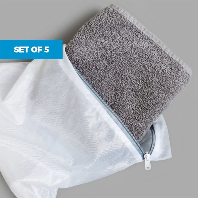 Set of 5 Mesh Laundry Wash & Travel Bags