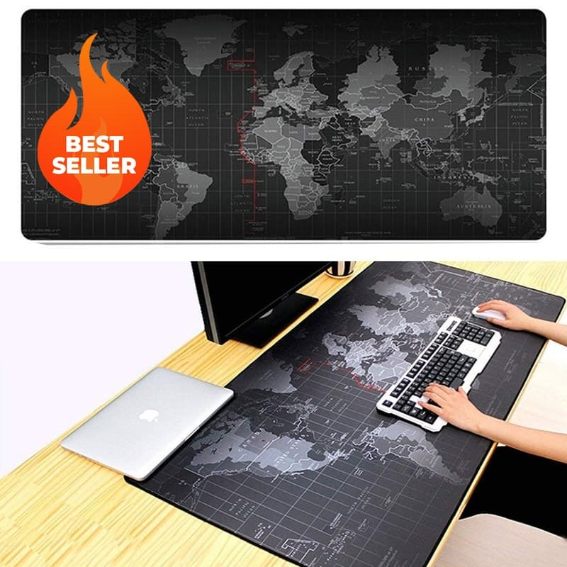 Extra Large World Map Desk and Mouse Pad (90 x 40cm)