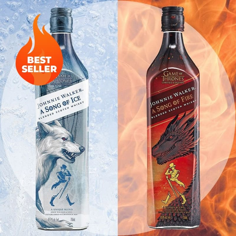 750ml Game of Thrones The Song of Fire or the Song of Ice Whisky